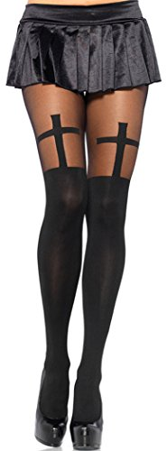 Christmas Elakaka Sheer Cross Sexy Pantyhose (Batgirl Cowl Mask compare prices)