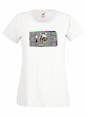 Ladies Skinny Fit BBC Test Card T-shirt - Many Colours - S to XXL