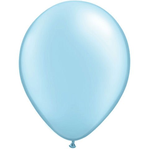 "11"" Light Blue Pearlized Balloons (10 ct) (10 per package)"