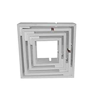 Shelving Solution Intersecting Decorative White Color Wall Shelf, Set of 6, 2 Candles Included