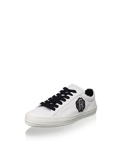 Roberto Cavalli Men's Wimbledon Sneaker  [White/Black]