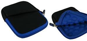 rooCASE Super Bubble Neoprene (Dark Blue / Black) Sleeve Case for Casio Exilim EX-Z250 9MP Digital Camera