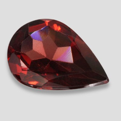 1.30 carat Red Color Pear Shape Garnet Loose Stone 9 X 6 mm SI Clarity Gemstone