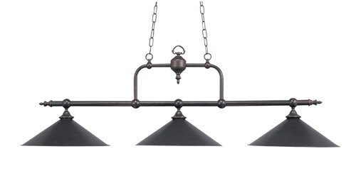 B000ROEIO8 Landmark 191-TB Designer Classics 3-Light Billiard Light, 20-1/2-Inch, Tiffany Bronze with Metal Shades