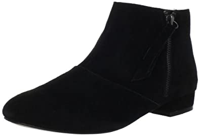 DV by Dolce Vita Women's Faven Ankle Boot, Black Suede, 6.5 M US