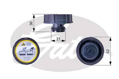 Gates-RC240-Bouchon-rservoir-de-liquide-de-refroidissement