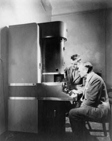 1930 The Rca Electron Microscope Is Shown Here With Its Inventors-- Dr. V.K. A5
