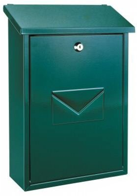 Rottner Parma Top Loading Steel Post Box - Green