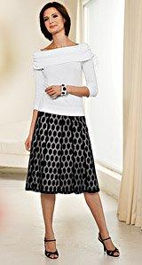OVAL PATTERN LACE SKIRT - Buy OVAL PATTERN LACE SKIRT - Purchase OVAL PATTERN LACE SKIRT (Barrie Pace, Barrie Pace Skirts, Barrie Pace Womens Skirts, Apparel, Departments, Women, Skirts, Womens Skirts)