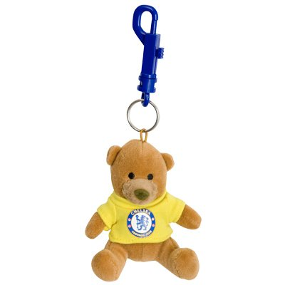 OFFICIAL CHELSEA F.C. TEDDY BEAR KEYRING WITH