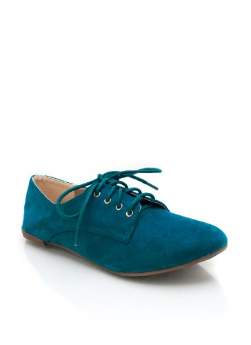 New Shoes: Suede Oxford Flats