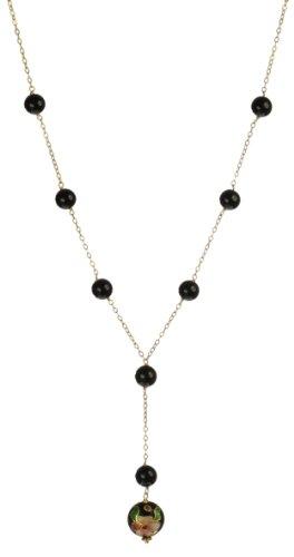 Black Onyx Cloisonne Round Bead