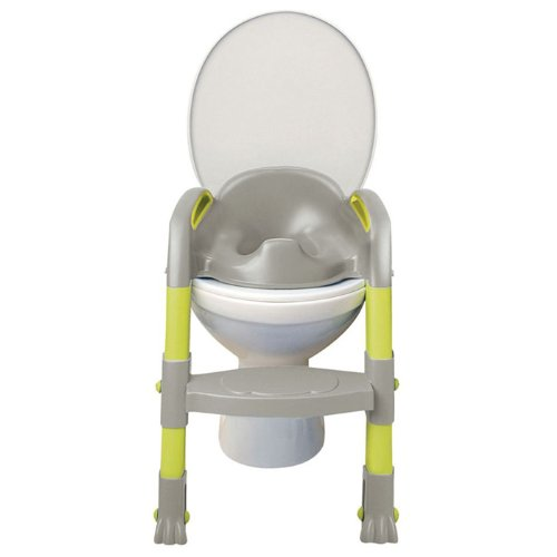Kiddyloo Toilet Seat Reducer (Grey/Green) - Toddler Potty Training Seat