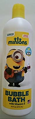 Minions Movie Bubble Bath with Vitamin E Banana Scented 16 Ounce