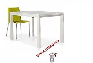 TABLES&CHAIRS tavolo bianco frassinato legno allungabile moderno sala cucina 659 110x70x77