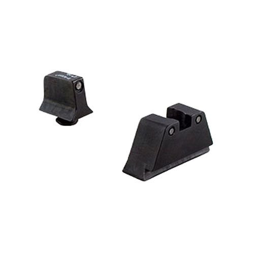 Trijicon Glock Sup Night Sight W/ Wht Outline/Grn Lamps, Black/Black, Suppressor Gl204-C-600698