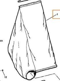 Snapper 21 Steel Deck Replacement Bag Slider Type #7075766