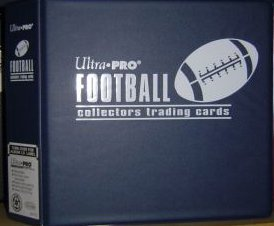 Ultra Pro BLUE Football Card Album (3 Inch D-Ring Binder) and a Sealed Box of 9 Pocket Storage Sheets (100 Pages). by Ultra Pro bestellen
