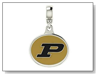 Purdue Boliermakers Collegiate Drop Charm Fits Most Pandora Style Bracelets Including Pandora Chamilia Zable Troll and More. High Quality Bead in Stock for Immediate Shipping. Officially Licensed