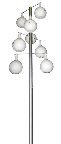 Heath Outdoor Products 30308 15-Foot Telescoping Galvanized Steel Pole, 8-piece Double Spiral Design