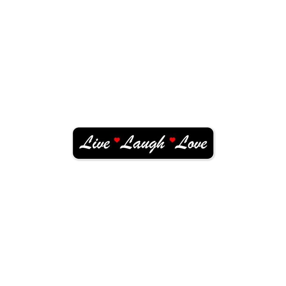 Live Laugh Love car bumper sticker 7 x 2