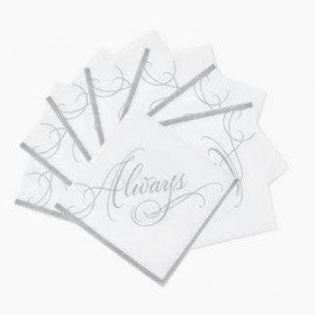 Love Wedding Beverage Napkins (50 Pcs)