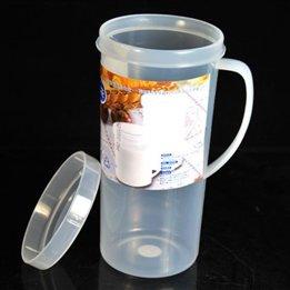 Portable Handle Plastic Outdoor Soya-Bean Milk Cup