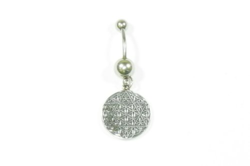 Star Of David Belly Ring in Sterling Silver FHAB-BR