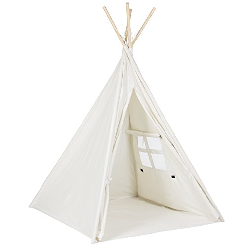 Find Discount Best Choice Producst 6' White Teepee Tent Kids Indian Playhouse Sleeping Dome