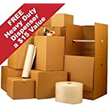 UBOXES 2 Room Wardrobe Kit, Everything Included, Moving Boxes plus Packing Supplies $110 value! FREE SHIPPING
