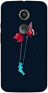 Good Looking 3D multicolor printed protective REBEL mobile back cover for Moto-X-2 - D.No-DEZ-1538-motox2