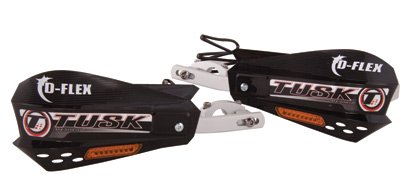 Tusk D-Flex Handguards With Turn Signals Black