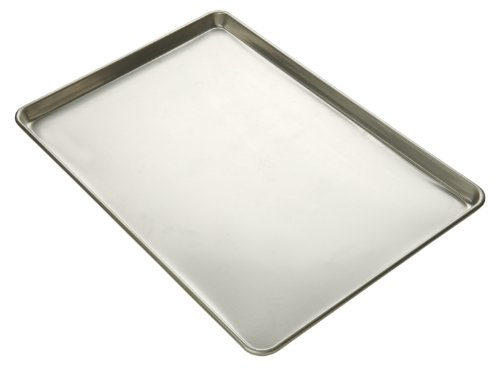 Focus Foodservice Commercial Bakeware 16-Gauge Glazed Aluminum-Sheet Pan, Full-Sheet