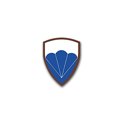 Aufkleber / Sticker -6th Airborne Division Luftlandedivision British Army Infantry WW2 Airborne forces Wappen Abzeichen Emblem passend für VW Golf Polo GTI BMW 3er Mercedes Audi Opel Ford (5x7cm)#A1598