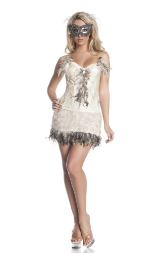 Mystery House Snowy Owl Costume, Ivory, Large