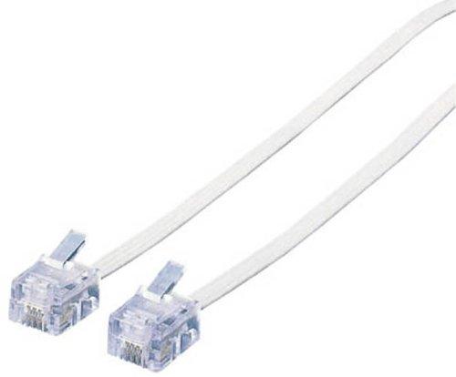 MJ-7WH, ELECOM スリムモジュラ Kabel (weiß) 7 m.