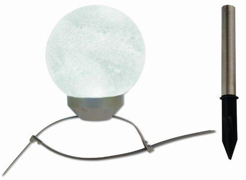 LED Solar-Kugelleuchte / 1x LED weiß und 1x LED RGB, inklusive 2 Kugel-Befestigungsbändern und Erdspieß / Durchmesser 15 cm / Höhe 18 cm / Material Glas, Kunststoff 5122761