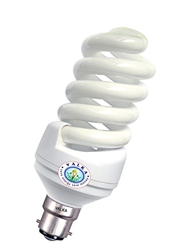 5W Spiral CFL Bulbs (White,Pack of 4)