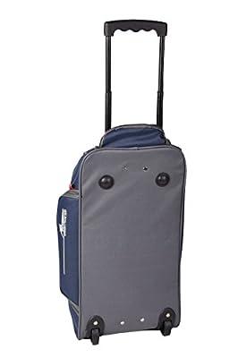 Travel Bag Wheeled Trolley Bag Carry-On Flight Luggage Blue-Grey by N.N.