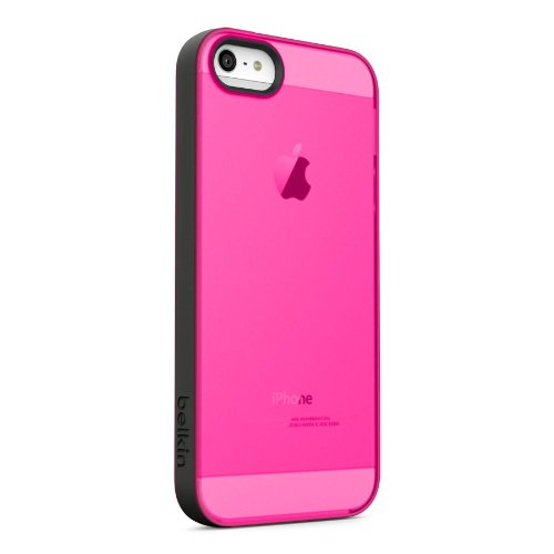 Belkin Grip Candy Sheer Case / Cover for iPhone 5 and 5S (Pink / Black)