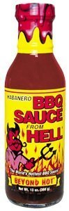Habanero BBQ Sauce From Hell - There's more than 20 different herbs and spices in this barbeque blaster! On the grill, in the oven, or just mix with sour cream for a dip that's out of this world. by Ass Kickin' (Bbq Sauce From Hell compare prices)