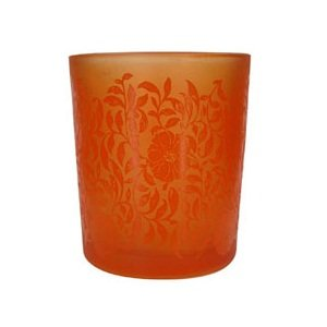 Orange Small Patterned Votive Or Tealight Holder - Shearer Candles by Shearer Candles