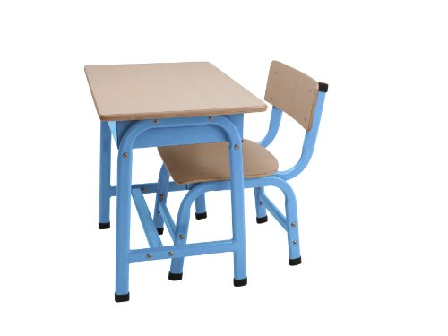 JIP Children's School Set Desk and Chair Metal, Fluorescent Blue