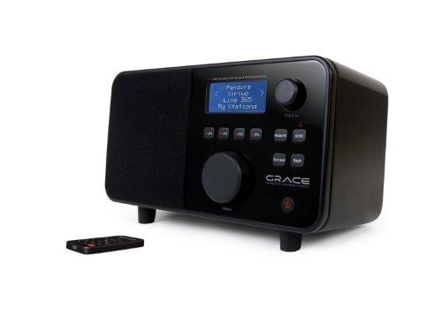 Grace Digital GDI-IR2500 Wi-Fi Internet radio Featuring Pandora, NPR On-Demand, Sirius and iheartradio