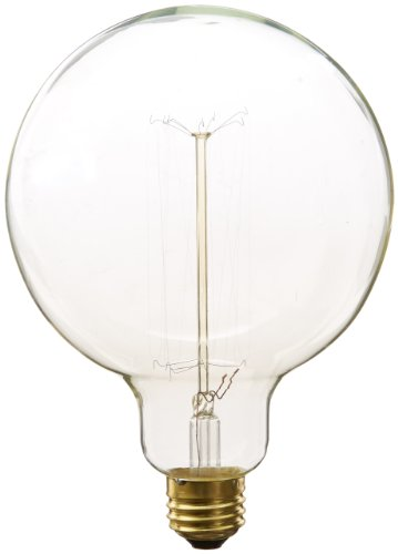Heirlume Hl-7240Wpack1 Vintage Edison Bulb 40-Watt With Medium Base And Globe Shape, 4.9-Inch X 6.9-Inch, 1-Pack