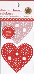 Martha Stewart Crafts - Valentine - Die Cut Vellum Stickers - Hearts