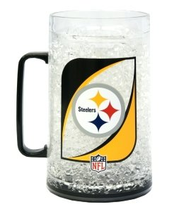 Caseys Distributing 9413101328 Pittsburgh Steelers Crystal Freezer Mug- Monster Size