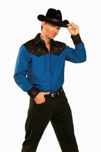 Cowboy Shirt Adult Halloween Costume Accessory Size Standard