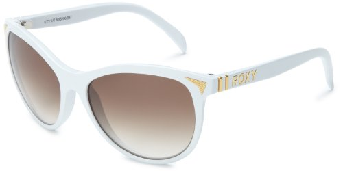 Roxy Kitty Kat REWN012-987 Cat-Eye Sunglasses,White,54 mm