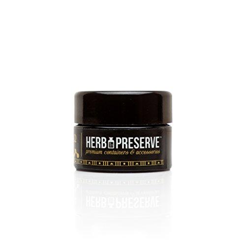 Herb Preserve Gram (15 Ml) Capacity Pocket Size Screwtop Jar Black Ultraviolet Refillable Glass Stash (Preserve Jars compare prices)